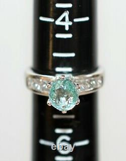 Certified Paraiba Tourmaline & Diamond 2.10tcw Platinum Engagement Women's Ring