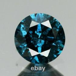 Certified Rare! 0.28ct 4.2mm Round Brilliant Natural Fancy Blue Diamond, Afri