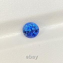 Certified Sri Lanka Natural Blue Sapphire 1.20 Cts Oval Cut Loose Gemstone