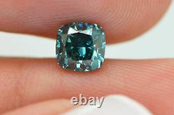 Cushion Diamond Loose Fancy Blue Color Enhanced Natural Certified 1.02 Carat VS1