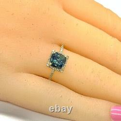 Diamond Green Sapphire Ring 14k Gold 2.86 TCW Women Certified $3,950 920216