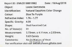Estate $4000.61ct Certified NO HEAT Blue Purple Sapphire 14k Gold Wedding Ring