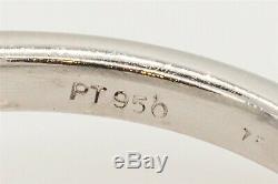 Estate $6000 3ct Natural Blue Sapphire CERTIFIED Diamond Platinum Wedding Ring