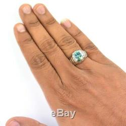 Exclusive Blue Diamond Solitaire Ring, Men's Jewelry! 6.95 ct! Certified