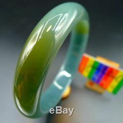(Free Face Mask x 5) 57.8mm Certified 100% Natural Jadeite Jade Bracelet Bangle