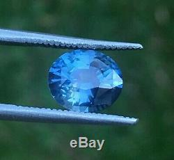GGTL Certified 2.41ct natural unheated Blue sapphire loos gemstone VVS clean