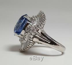 GIA Certified 11.70ct Natural Heated SAPPHIRE PLATINUM Ring R9576
