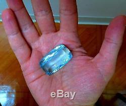 GIA Certified 157.55ct Natural Aqua Blue Cushion Cut Aquamarine Magnificent+