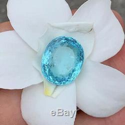 GIA Certified 16.33 ct. NEON BLUE Fluorescent PARAIBA TOURMALINE BRAZIL