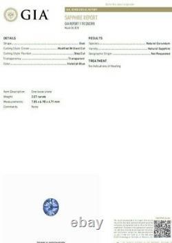 GIA Certified 2.07ct Natural No Heat Sapphire Diamond Ring Unheated 18 Karat