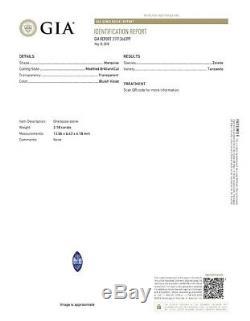 GIA Certified 2.18CT Marquise Bluish Violet Zoisite TANZANITE Loose Gemstone