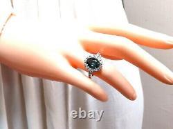 GIA Certified 3.03ct Green Blue Sapphire Diamond Ring Fine