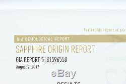 GIA Certified 3.08ct Sri Lankan Oval Cut Loose Blue Sapphire 10.35x6.89x4.60mm