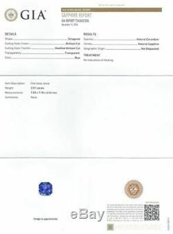 GIA Certified 3.51 ct. Blue Sapphire Untreated BURMA, MYANMAR