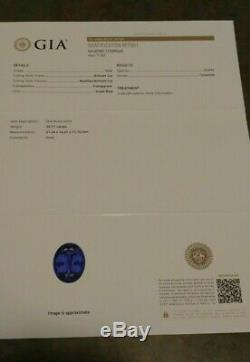 GIA Certified 30.7 ct. Natural Earth-Mined AAAA TOP Tanzanite Oval