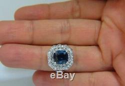 GIA Certified 4.07ct Natural No Heat Sapphire Diamond Ring Unheated +