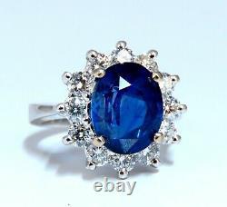GIA Certified 6.47ct Natural No Heat Sapphire Diamond Ring Unheated 14 Karat