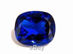GIA Certified 62.60ct Natural Blue Cushion Cut Tanzanite Magnificent+