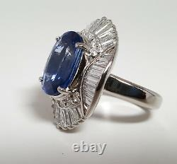 GIA Certified 7.07ct SAPPHIRE PLATINUM Ring R9578