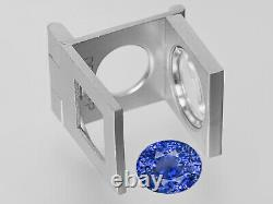 GIA Certified KASHMIR Blue Sapphire 10.94 Cts Natural Untreated Oval