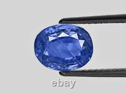 GIA Certified KASHMIR Blue Sapphire 5.47 Cts Natural Untreated Cornflower Blue