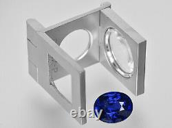 GIA Certified KASHMIR Blue Sapphire 7.05 Cts Natural Untreated Deep Royal Blue
