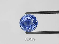 GIA Certified KASHMIR Blue Sapphire 7.21 Cts Natural Untreated Round