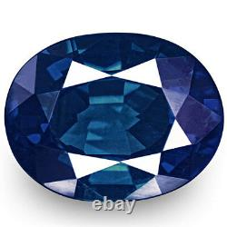 GIA Certified NIGERIA Blue Sapphire 0.54 Cts Natural Untreated Oval