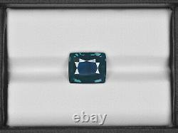 GIA Certified NIGERIA Blue Sapphire 4.02 Cts Natural Untreated Cushion
