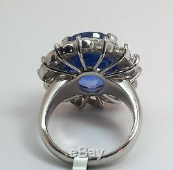 GIA Certified Natural 12.23ct SAPPHIRE PLATINUM Ring R9331