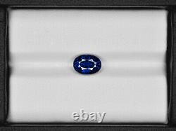 GIA Certified SRI LANKA Blue Sapphire 2.25 Cts Natural Untreated Oval