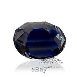 GIA Certified Untreated 5.48 ct Oval Cut Blue Ceylon Natural Sapphire