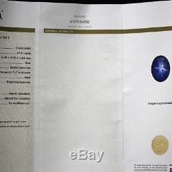 GIA Certified natural untreated Blue Burmese Burma Mogok Star Sapphire 67.41ct