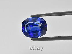 GIA GRS Certified KASHMIR Blue Sapphire 3.67 Cts Natural Untreated Cushion