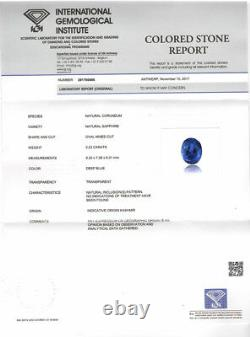GIA IGI Certified KASHMIR Blue Sapphire 3.23 Cts Natural Untreated Oval