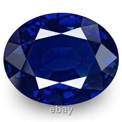 GIA IGI Certified KASHMIR Blue Sapphire 3.48 Cts Natural Untreated Oval