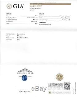 GIA certified Untreated 2.98 ct Rich Blue Oval Cut Natural Ceylon Sapphire