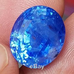 GRS CERTIFIED 16.05Cts Ceylon CORNFLOWER BLUE Sapphire