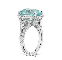 GRS CERTIFIED BLUE BURMESE 9.16 CT SAPPHIRE 1.2 ctw VVS Diamonds Set in Platinum