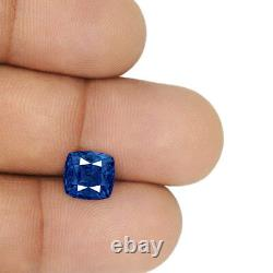 GRS Certified MADAGASCAR Blue Sapphire 3.85 Cts Natural Untreated Cushion