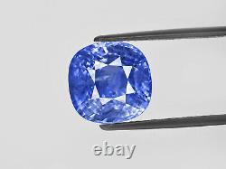 GRS Certified SRI LANKA Blue Sapphire 15.78 Cts Natural Untreated Cushion
