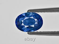 GRS Certified SRI LANKA Blue Sapphire 3.01 Cts Natural Untreated Deep Blue Oval