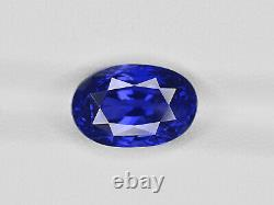 GRS Certified SRI LANKA Blue Sapphire 5.12 Cts Natural Untreated Oval