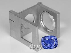 GRS Certified SRI LANKA Blue Sapphire 7.55 Cts Natural Untreated Cushion
