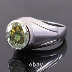 Gorgeous 4.55 Ct Greenish Blue Diamond Ring, Certified Earth Mined, Great Shine