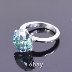 Gorgeous Blue Diamond Solitaire Ring In Prong Style. Certified 5 Ct- Great Shine