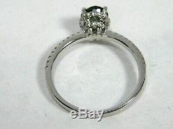Green Blue Sapphire Ring 14K white gold Certified Untreated Heirrloom $3,284