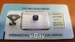 IGI Certified Australia Natural Dark Blue Sapphire 1.06 carats Transparent
