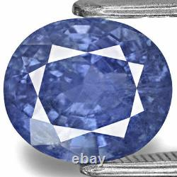 IGI Certified BURMA Blue Sapphire 3.33 Cts Natural Untreated Oval