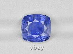 IGI Certified BURMA Blue Sapphire 4.57 Cts Natural Untreated Medium Blue Cushion